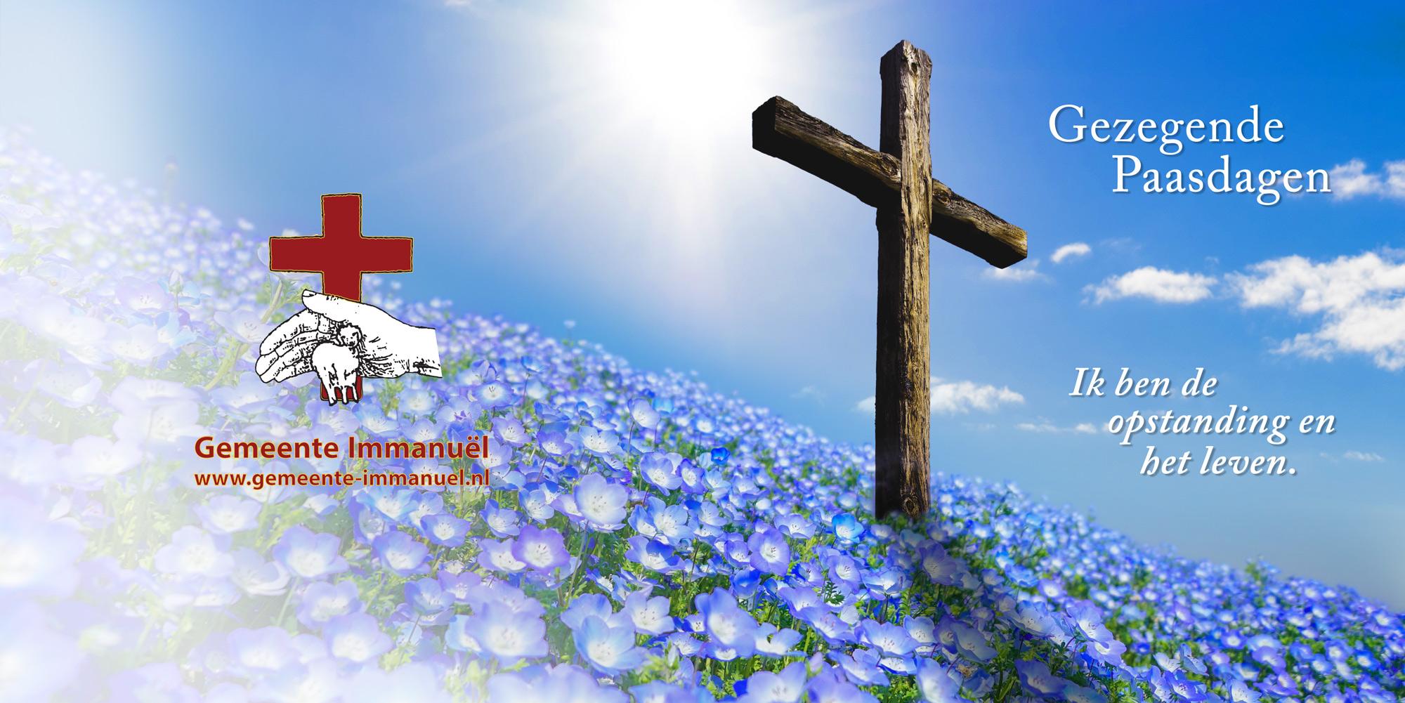 Kaart Pasen 2019 Gemeente Immanuel